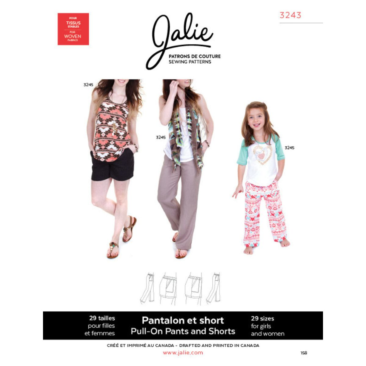 Jalie - Pull On Trousers And Shorts Pattern