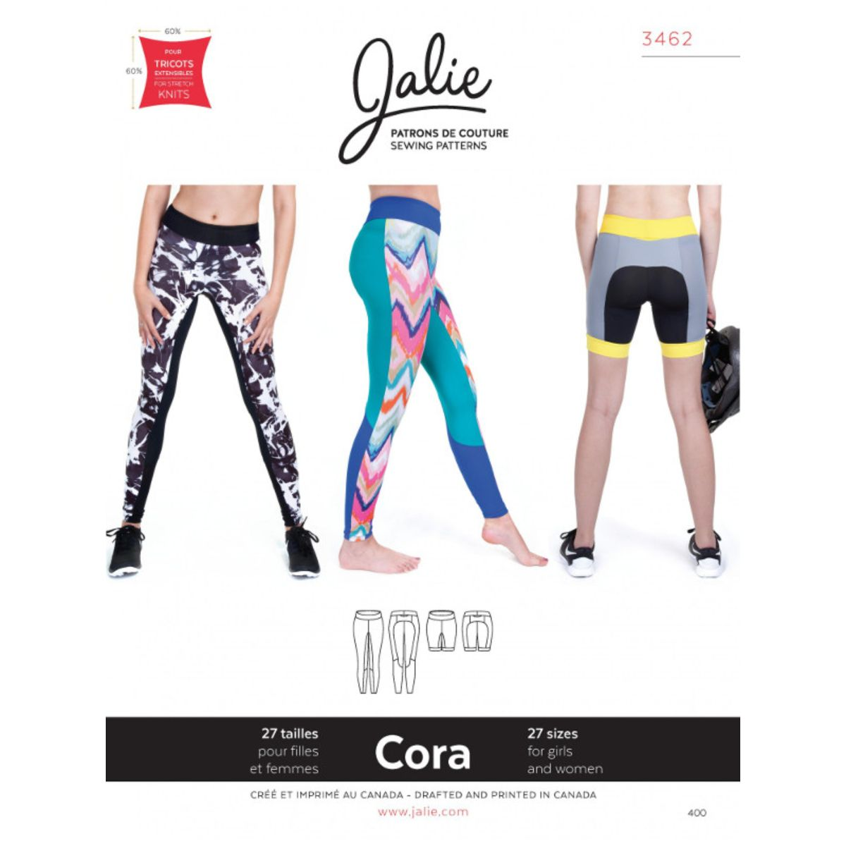 Jalie -  Cora Running Tights And Shorts Pattern