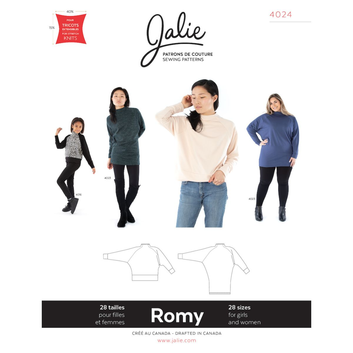 Jalie - Romy Sweater and Tunic Pattern