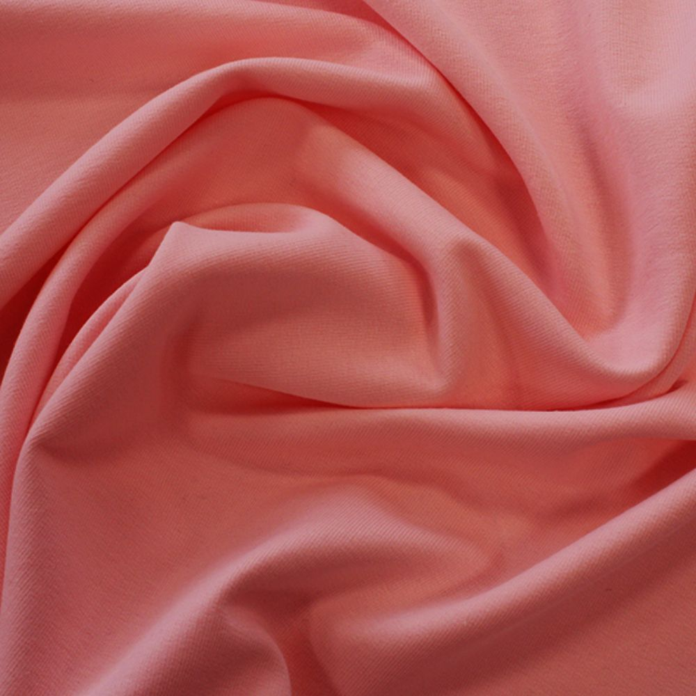 Organic Cotton French Terry Fabric - Rose Pink