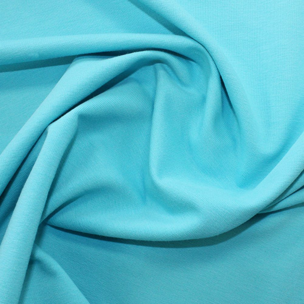 Organic Cotton French Terry Fabric - Turquoise