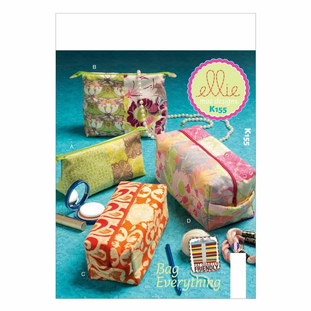 Kwik Sew Sewing Pattern K0155 Zippered Cases