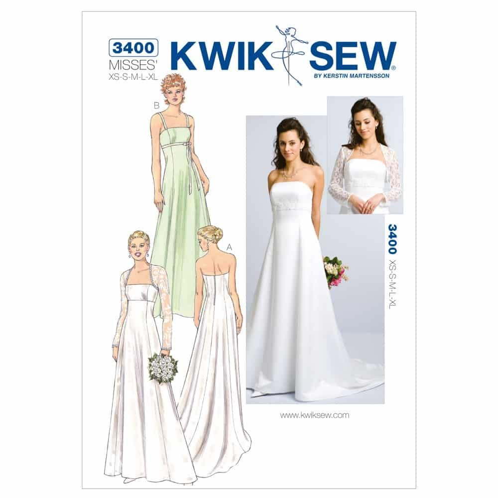 Kwik Sew Sewing Pattern K3400 Gowns & Bolero