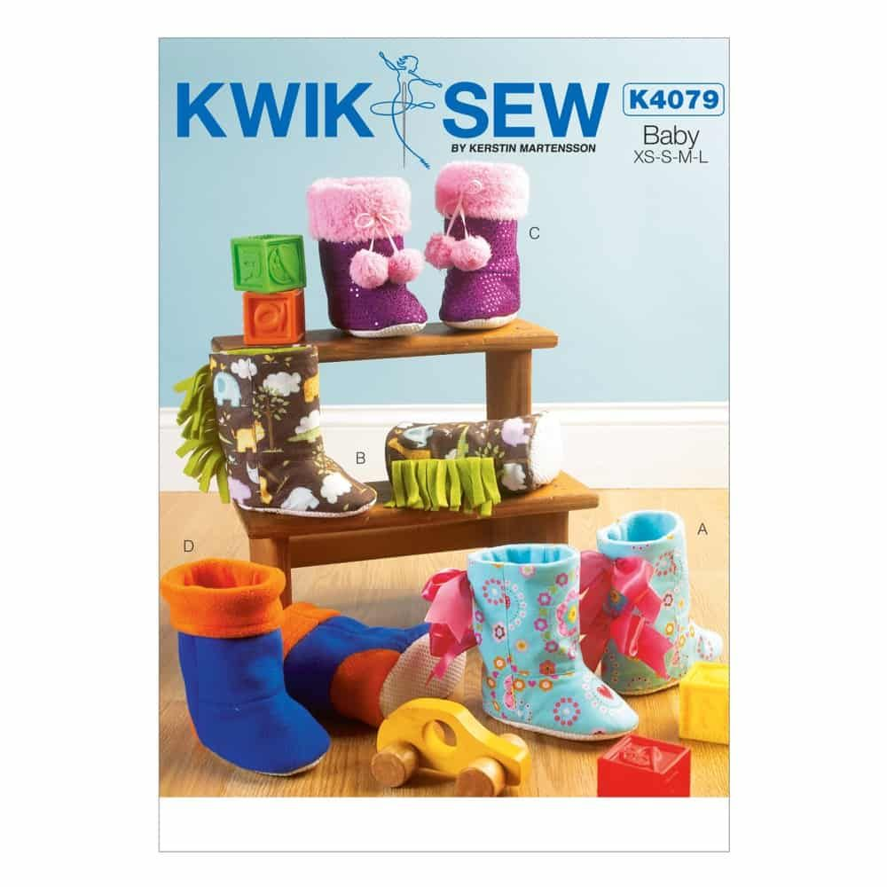 Kwik Sew Sewing Pattern K4079 Toddlers' Slippers