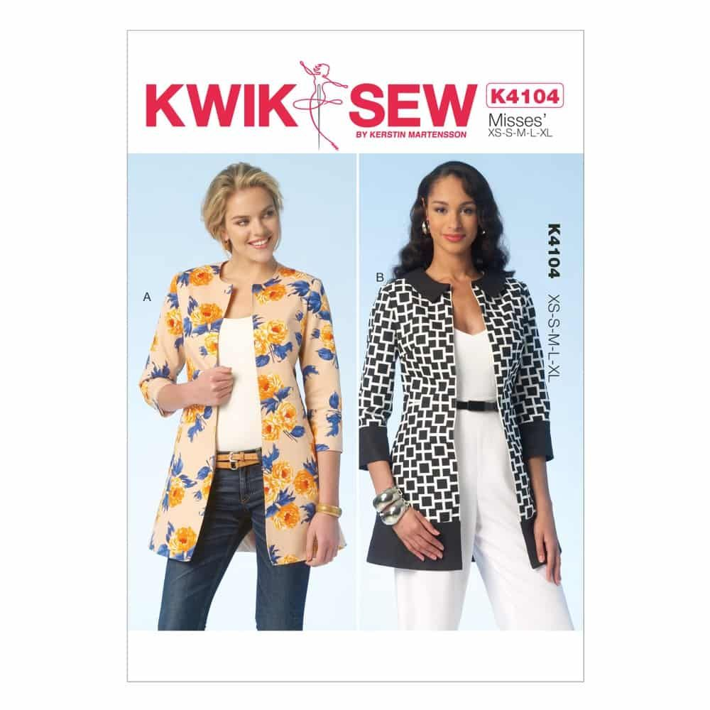 Kwik Sew Sewing Pattern K4104 Misses' Jackets