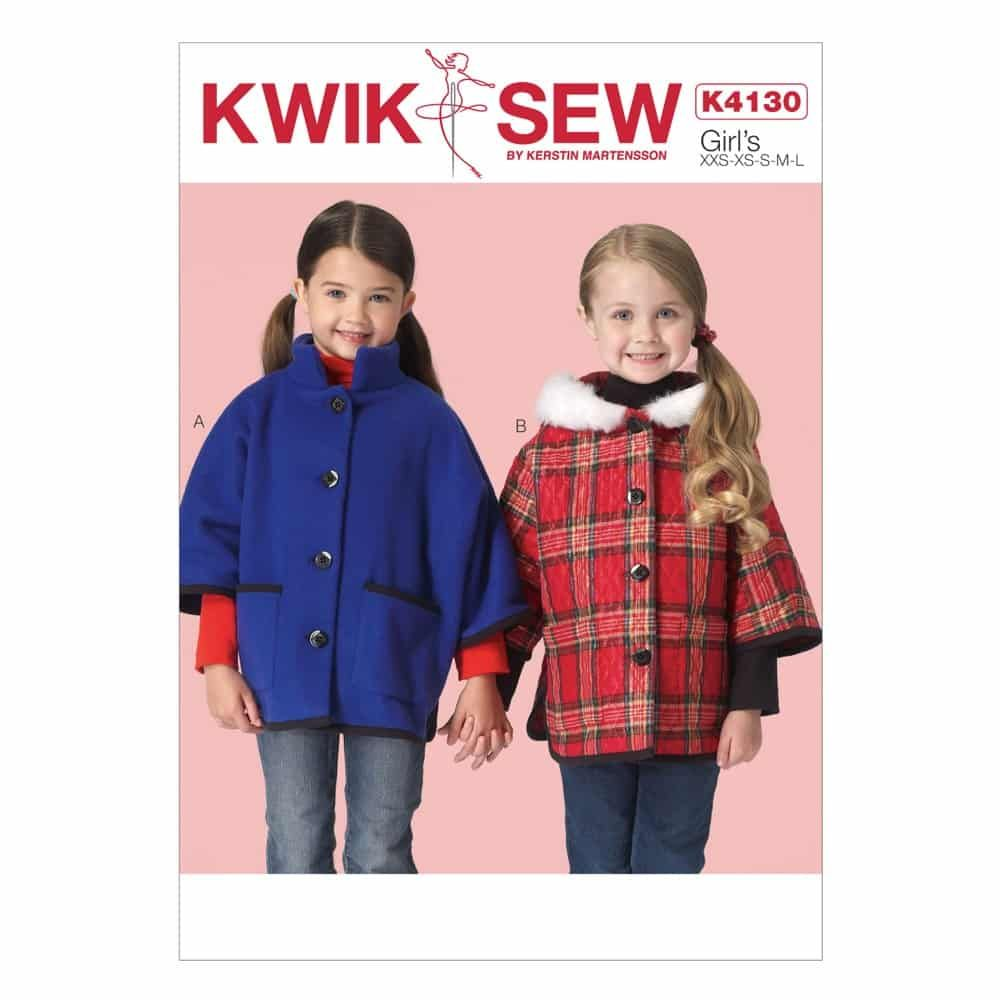 Kwik Sew Sewing Pattern K4130 Girls' Jackets