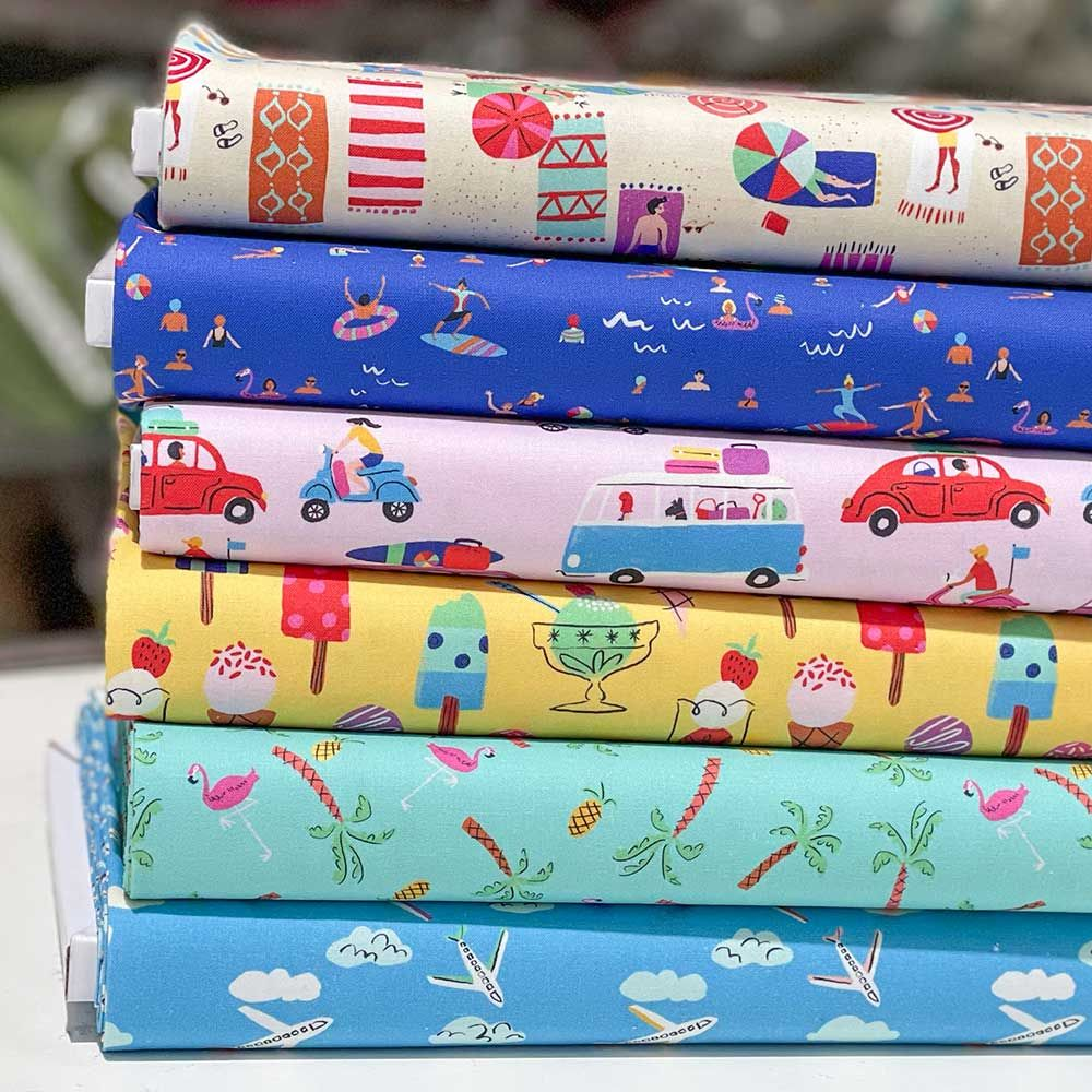 Dashwood Studio  - Lazy Days - Fat Quarter Bundle - 6 Fabrics