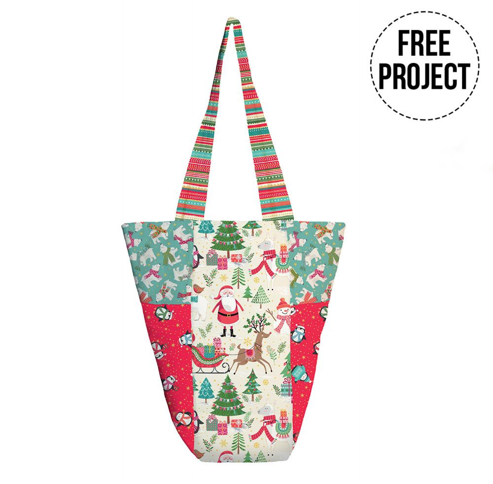 Makower Let It Snow - Shoppers Tote Bag - Free Instant Download