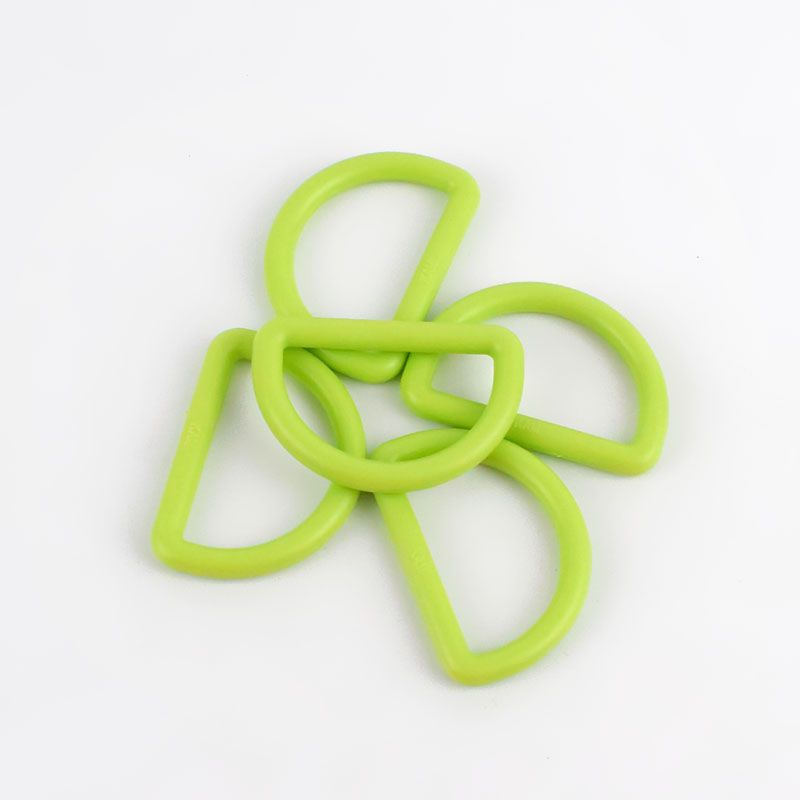 Strong Plastic D Rings 25mm - 2 Pack - Light Green