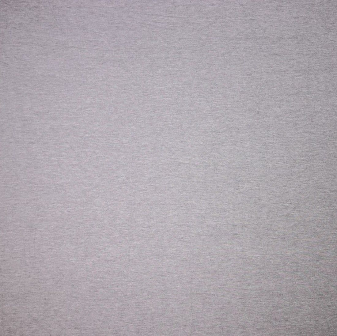 Remnant -Solid Colour Bamboo Jersey Fabric - Light Grey Melange - 1m x 160cm