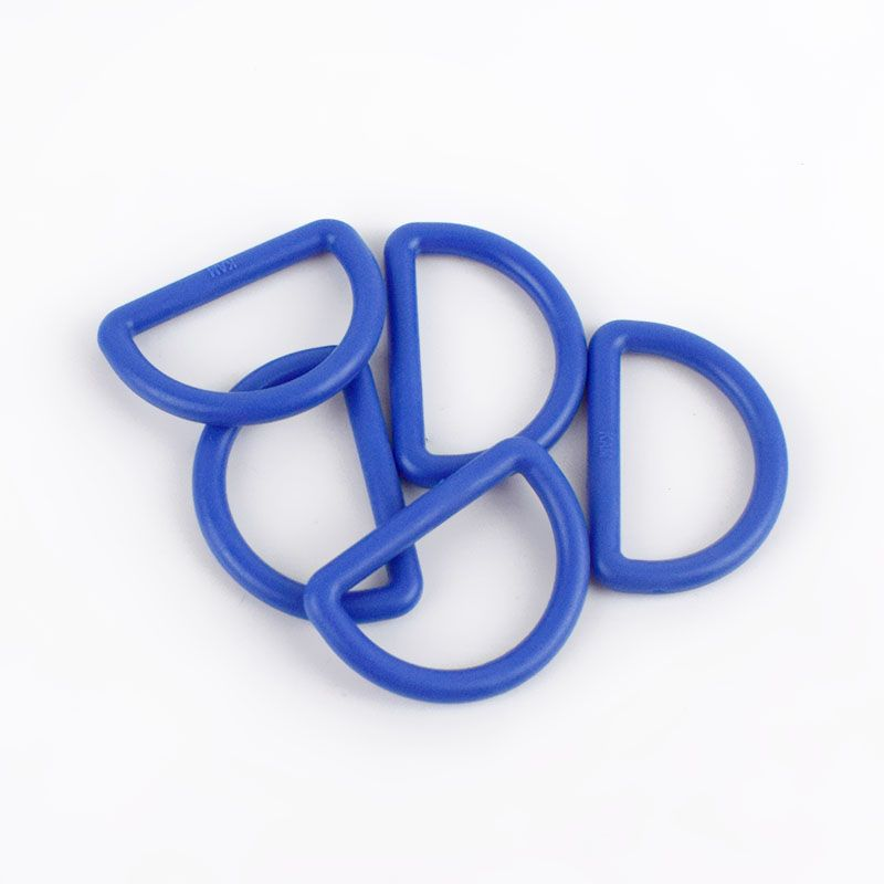 Strong Plastic D Rings 25mm - 2 Pack - Light Navy