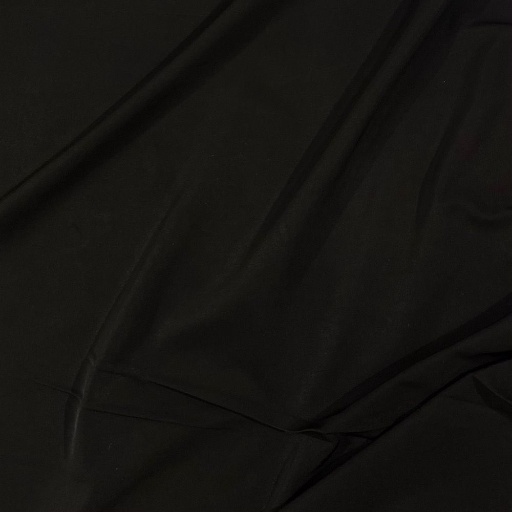 Lightweight Stretch PUL (Polyurethane Laminate) Fabric - Black - Waterproof Breathable Material