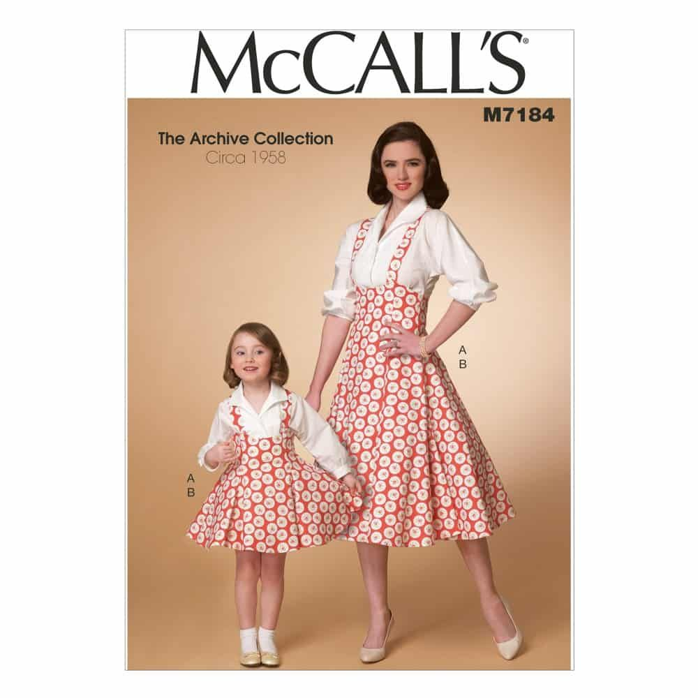 McCalls Sewing Pattern M7184 Misses'/Children's/Girls' Top and Jumper