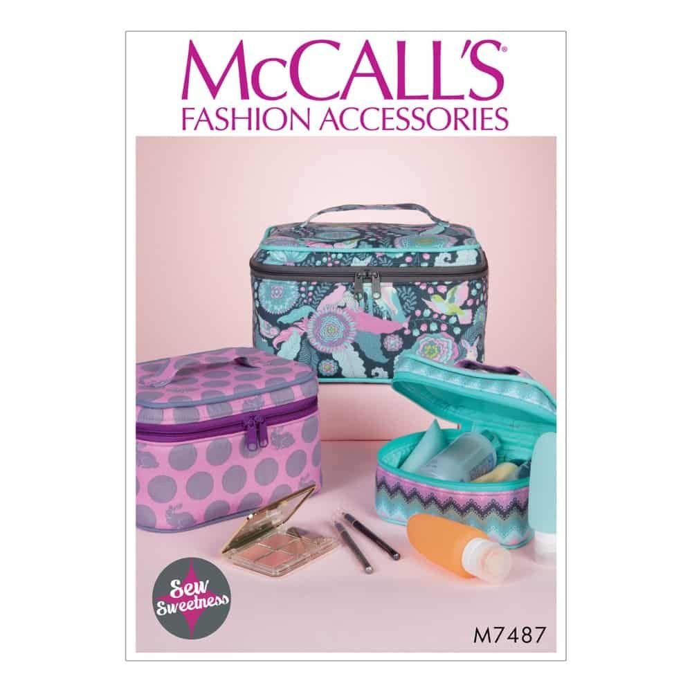 McCalls Sewing Pattern M7487 Travel Cases in Three Sizes