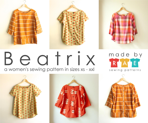 Made By Rae Sewing Patterns -  Beatrix Top Dressmaking Pattern