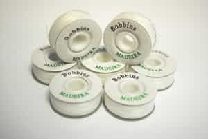 White Pre Wound Sided Bobbins - Pack of 144