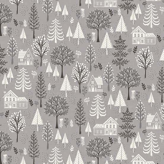 Makower - Scandi 2020 - Trees Silver