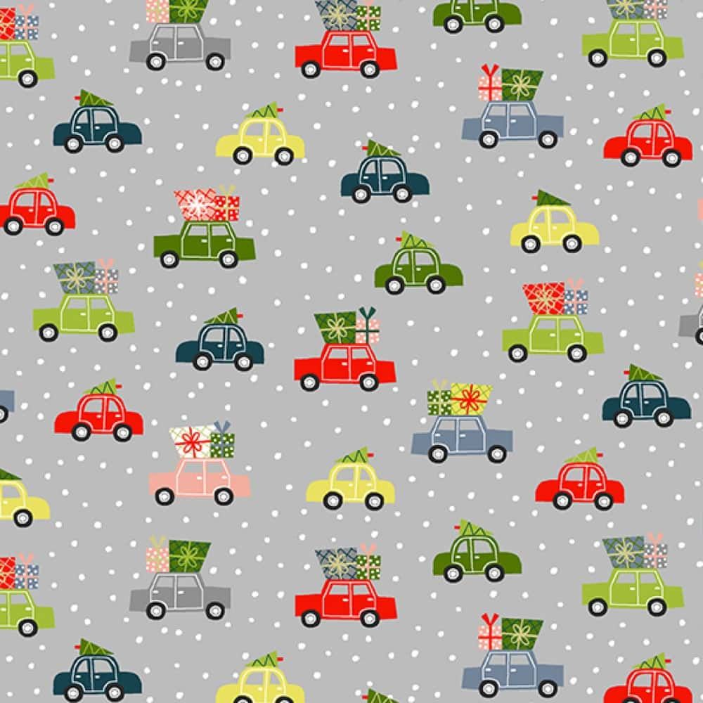 Makower - Joy - Cars Grey