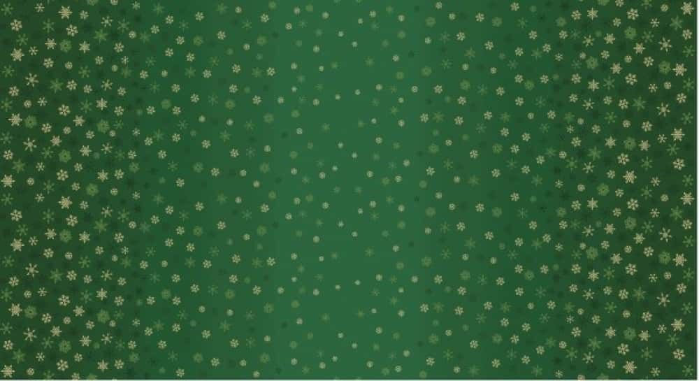 Makower - Snowflake Ombre - Green