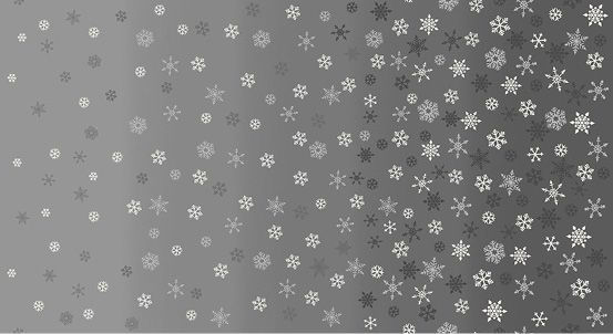 Makower - Snowflake Ombre - Silver