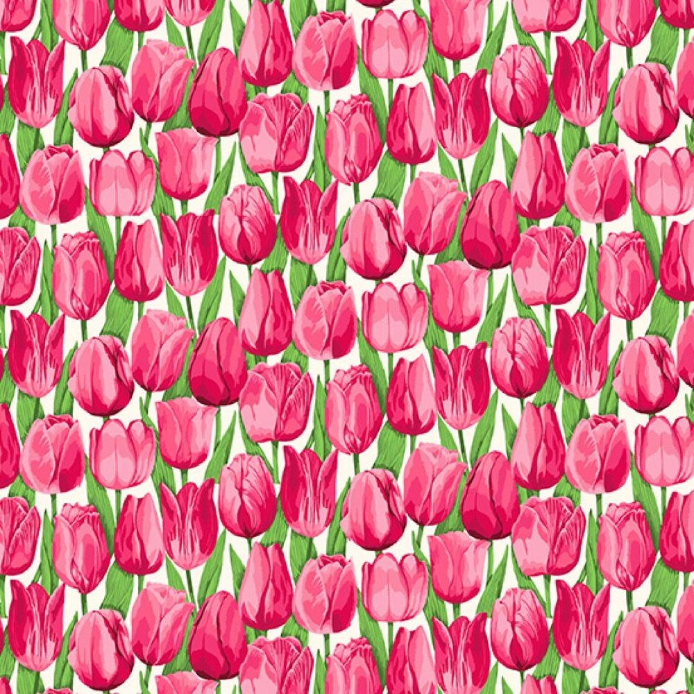 Makower - Summer Garden - Tulips Pink