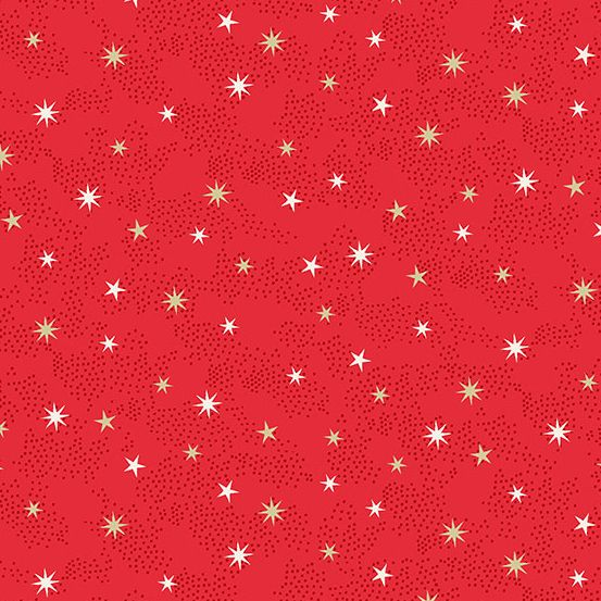 Makower - Scandi 2021 - Stars Red Metallic