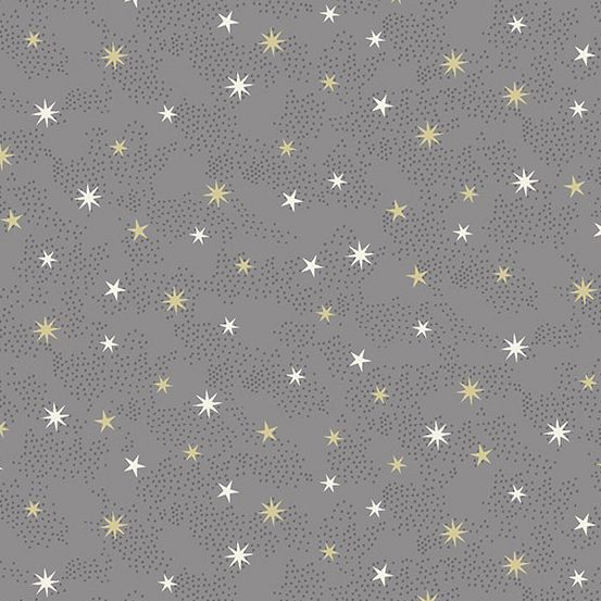 Makower - Scandi 2021 - Stars Silver Metallic