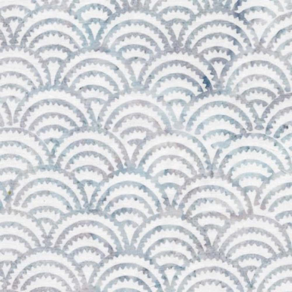 Makower - Island Batiks 2020 - Scales White