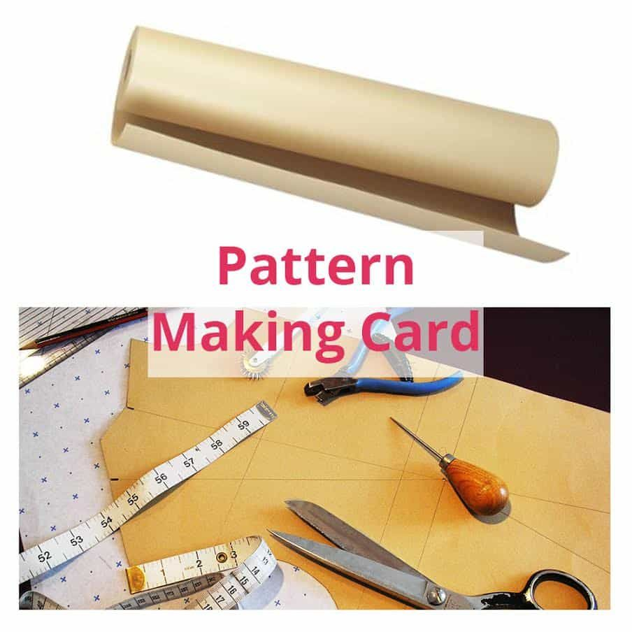 Remnant -Pattern Template Card for Design Drawings Dressmaking 100cm wide - 3.8m Length