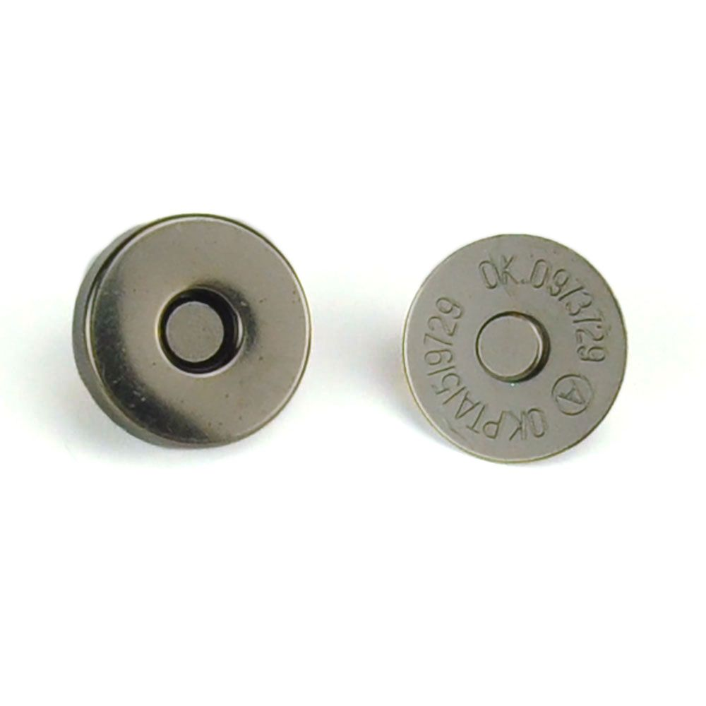 Magnetic Bag Closure 18mm - Gun Metal