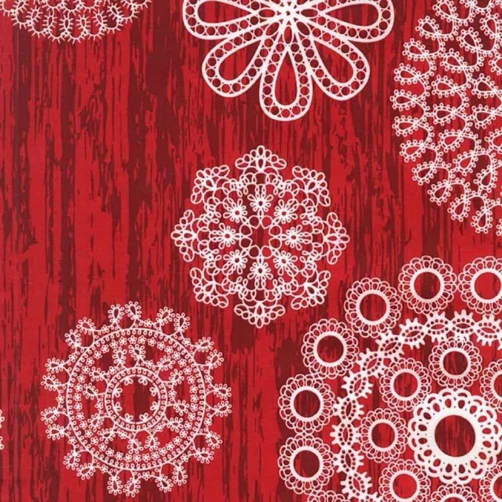 Michael Miller - Christmas at Brambleberry Ridge - Knots And Loops Red