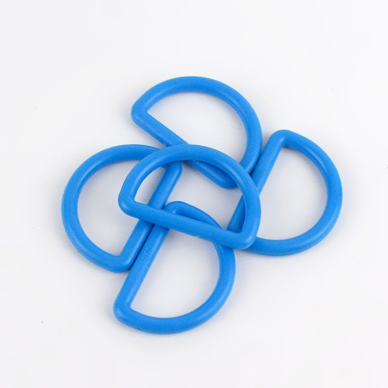 Strong Plastic D Rings 25mm - 2 Pack - Mid Blue