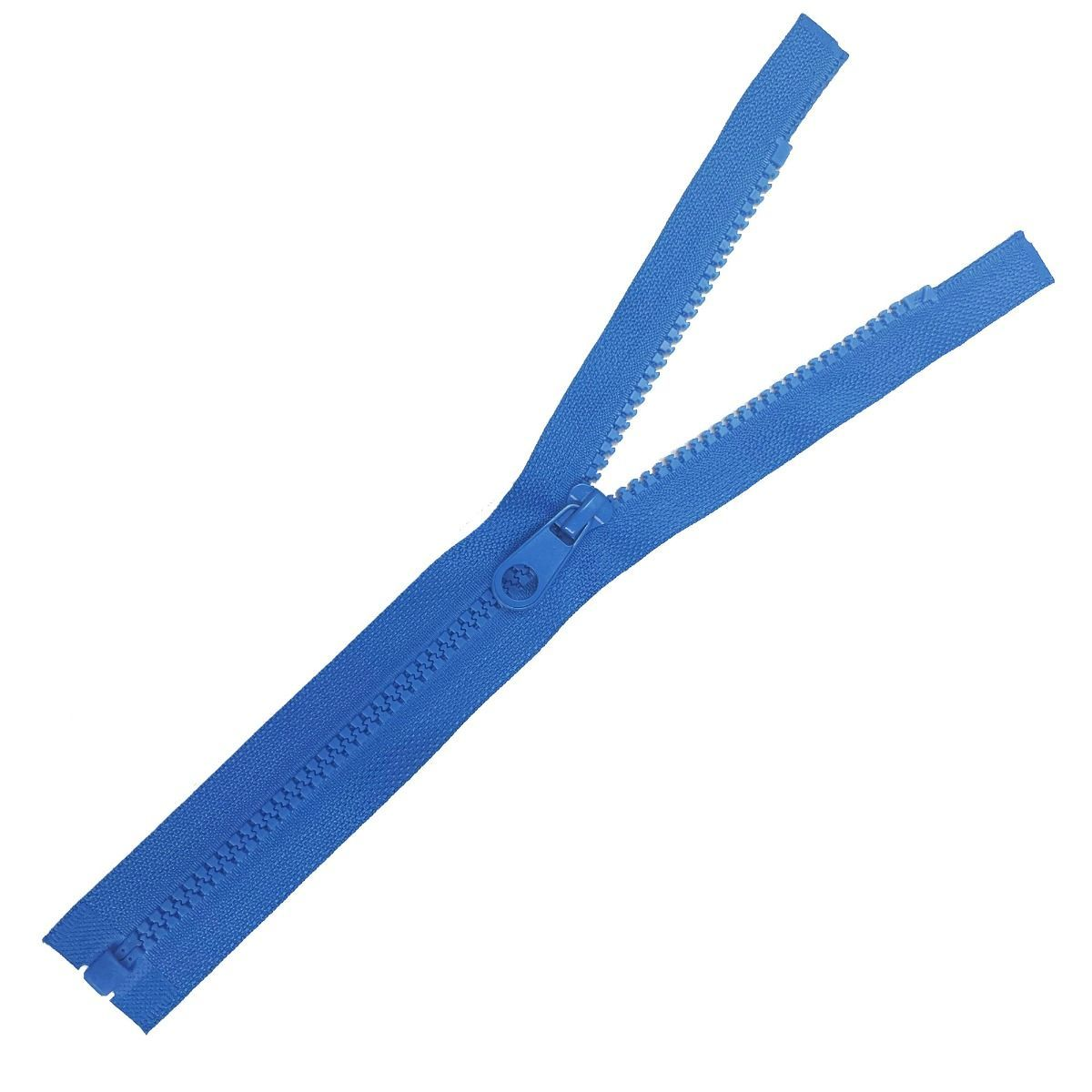 Chunky Open Ended Zips - Mid Blue - 10 Inches Up to 36 Inches