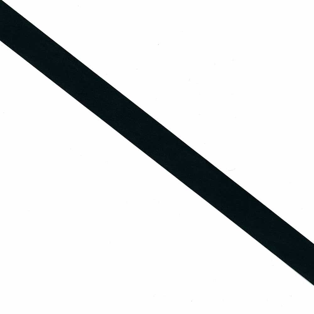 Black Leatherette Flat Bias Binding