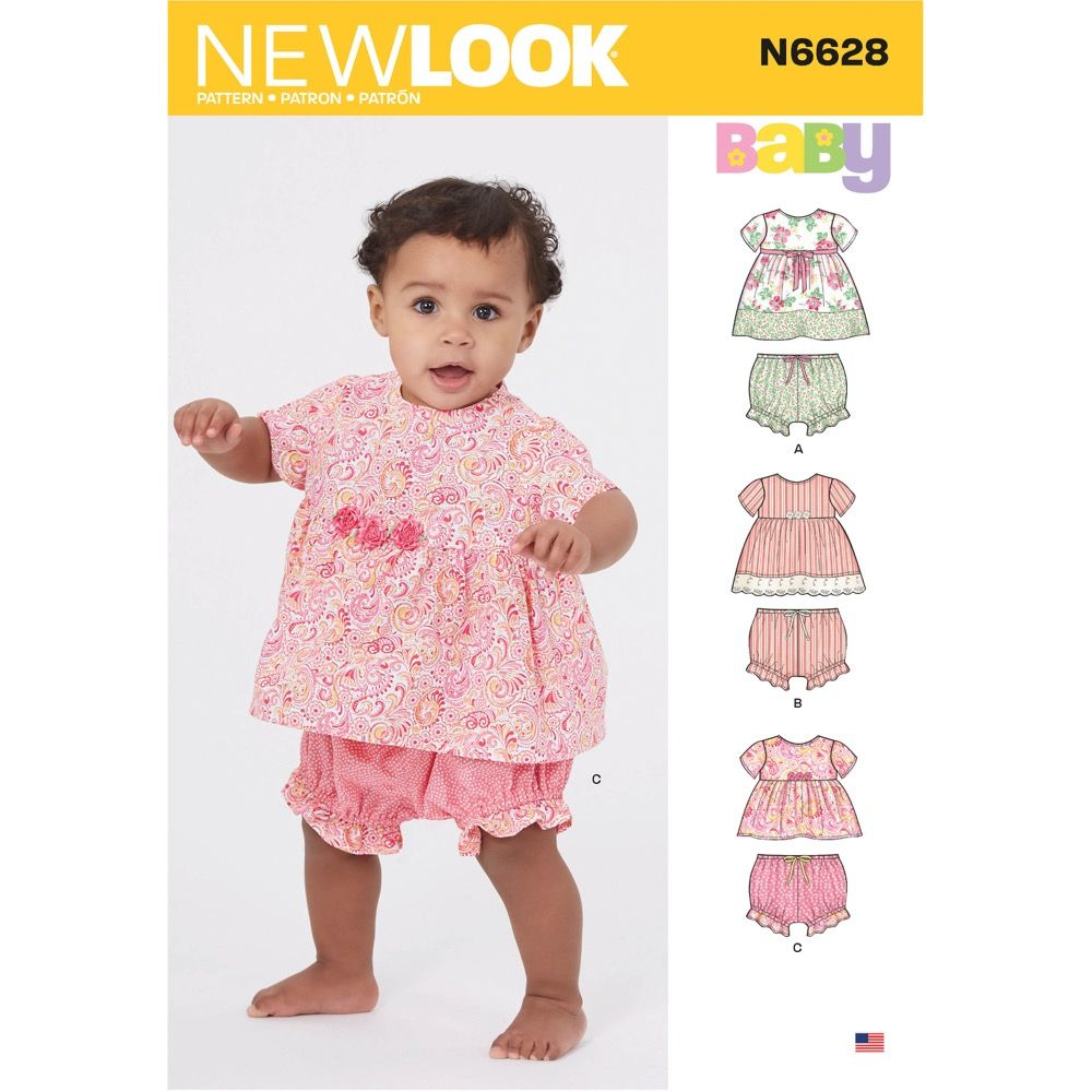 New Look Sewing Pattern 6628 - Babies Sportswear