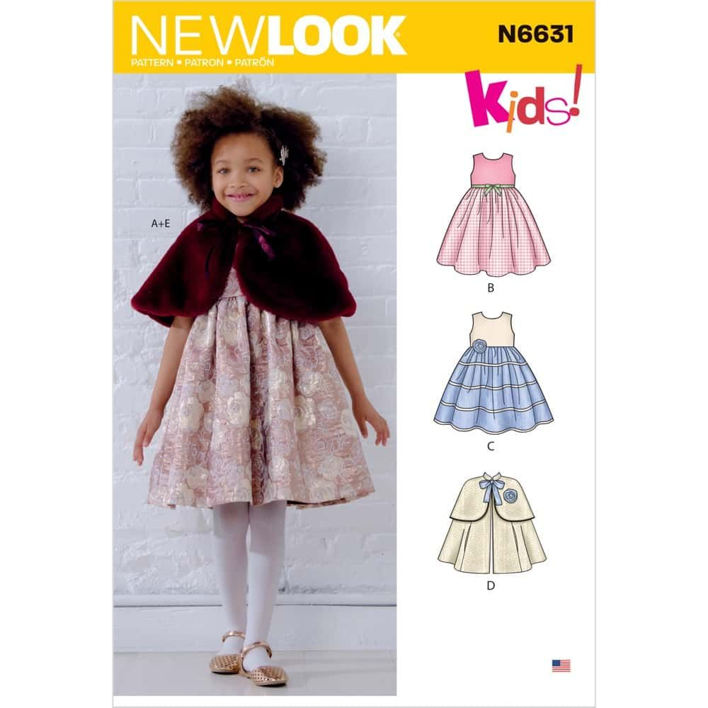 New Look Sewing Pattern 6631 - Childrens Dresses and Capes