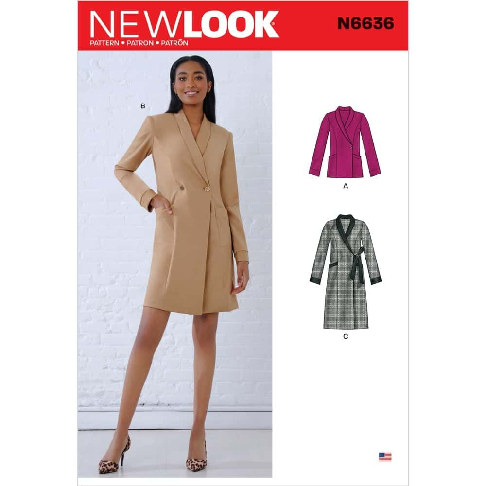 New Look Sewing Pattern 6636 - Misses Dresses and Blazer
