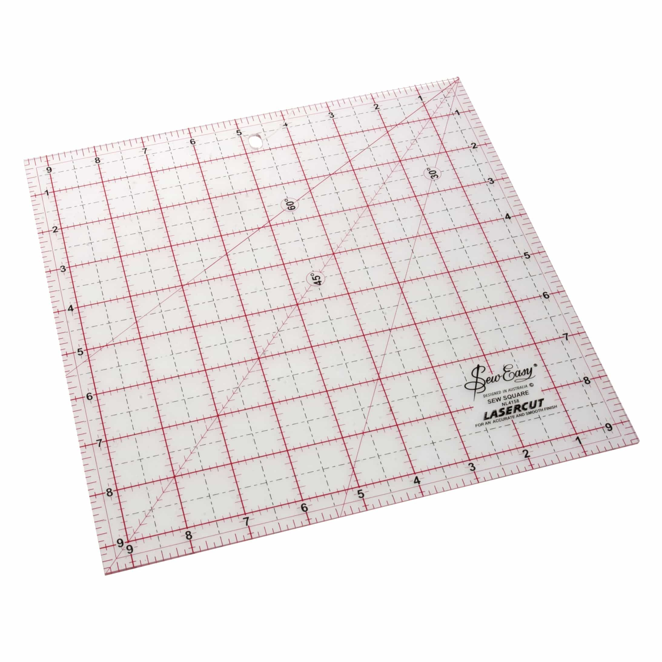 Sew Easy Patchwork Square Ruler : 9.5