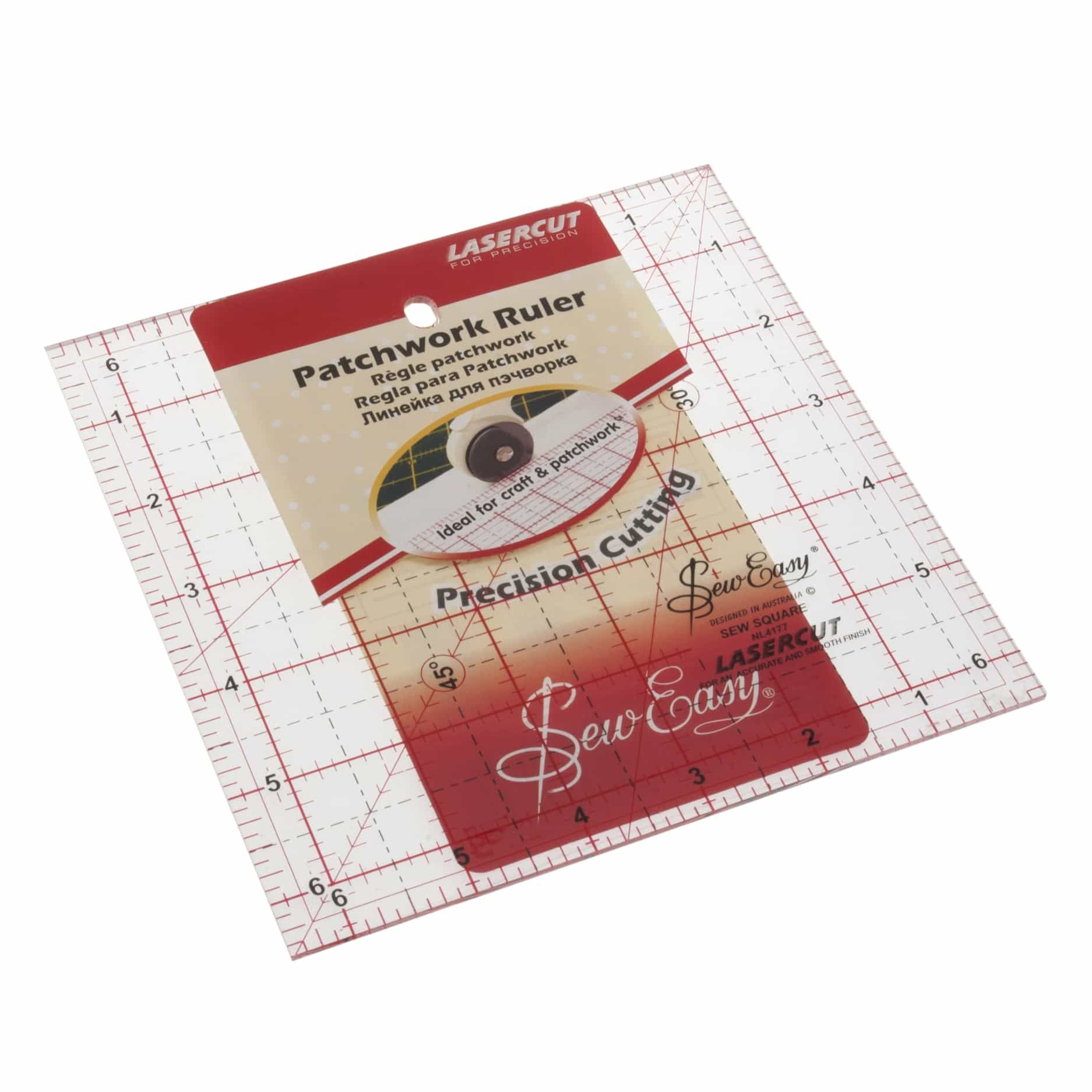 Sew Easy Patchwork Quilt Square Ruler 6.5