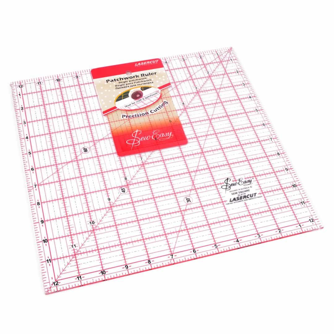 Sew Easy Patchwork Quilt Square Ruler 12.5