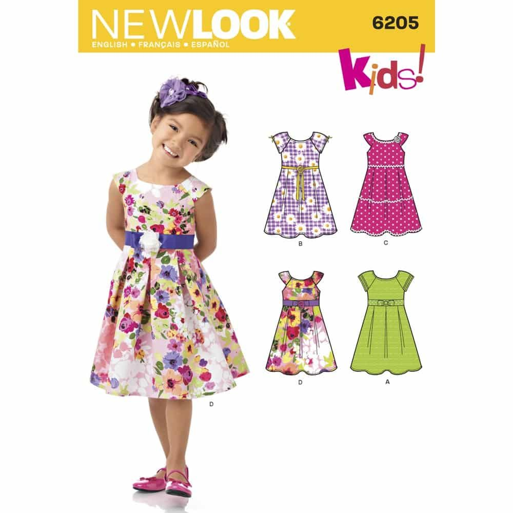 New Look Sewing Pattern 6205 Childs Dress
