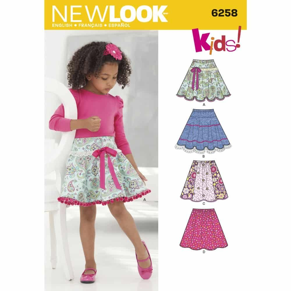 New Look Sewing Pattern 6258 Childs and Girls Circle Skirts