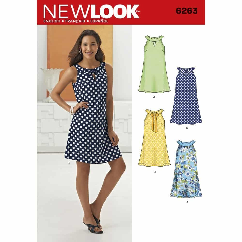 New Look Sewing Pattern 6263 Misses A- Line Dress