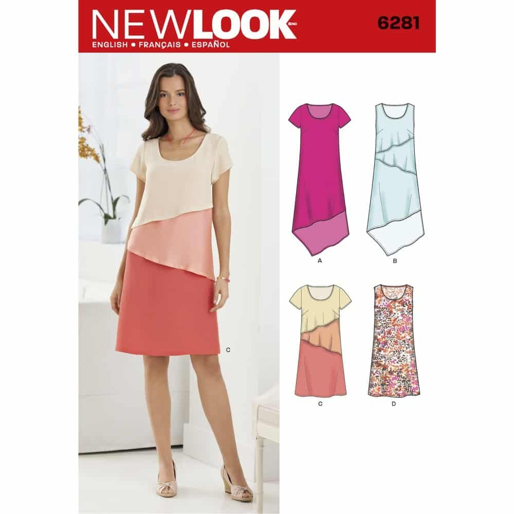 New Look Sewing Pattern 6281 Misses Pullover Dress in Two Lengths