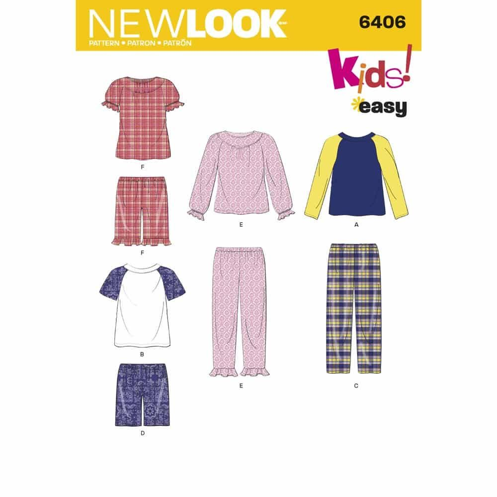 New Look Sewing Pattern 6406 Childrens Separates
