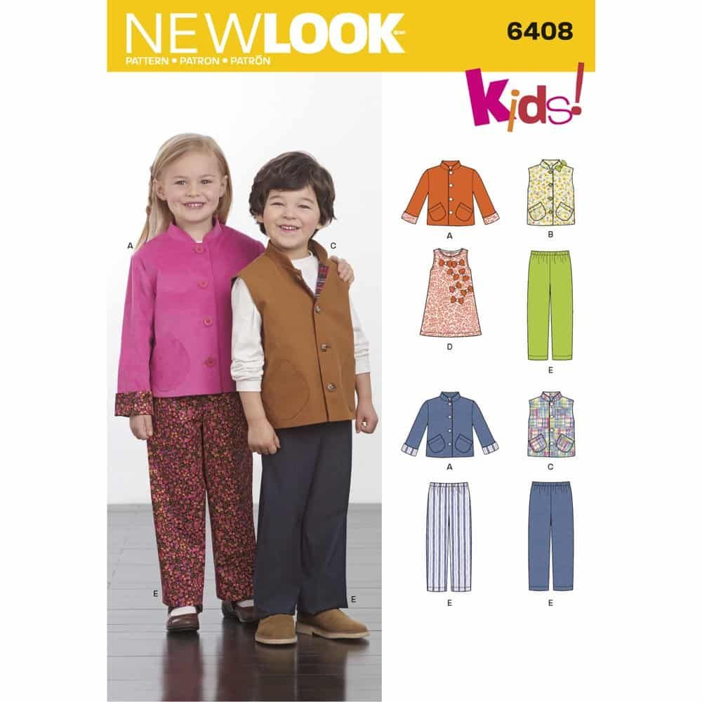 New Look Sewing Pattern 6408 Childrens Separates
