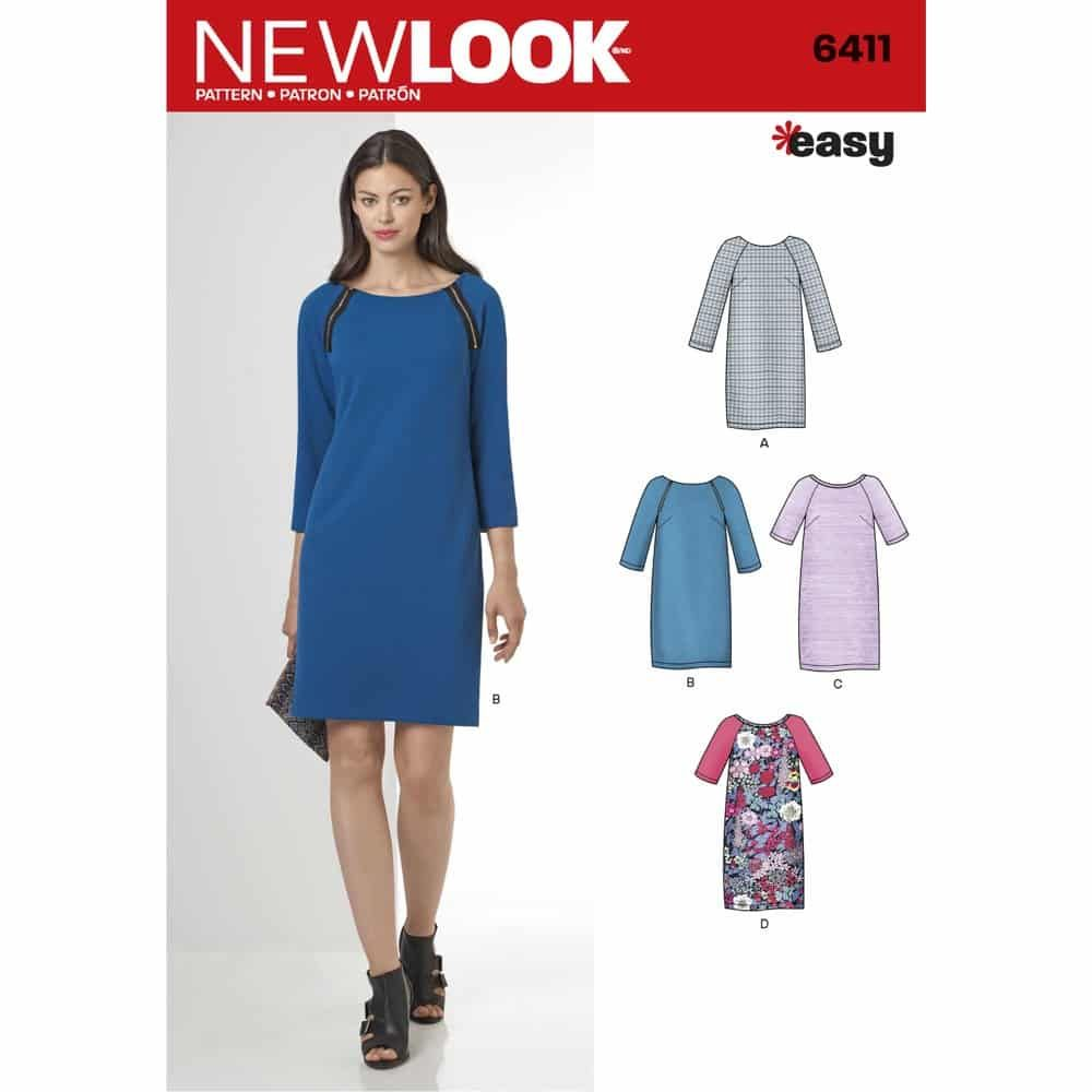 New Look Sewing Pattern 6411 Misses Easy to Sew Shift Dress