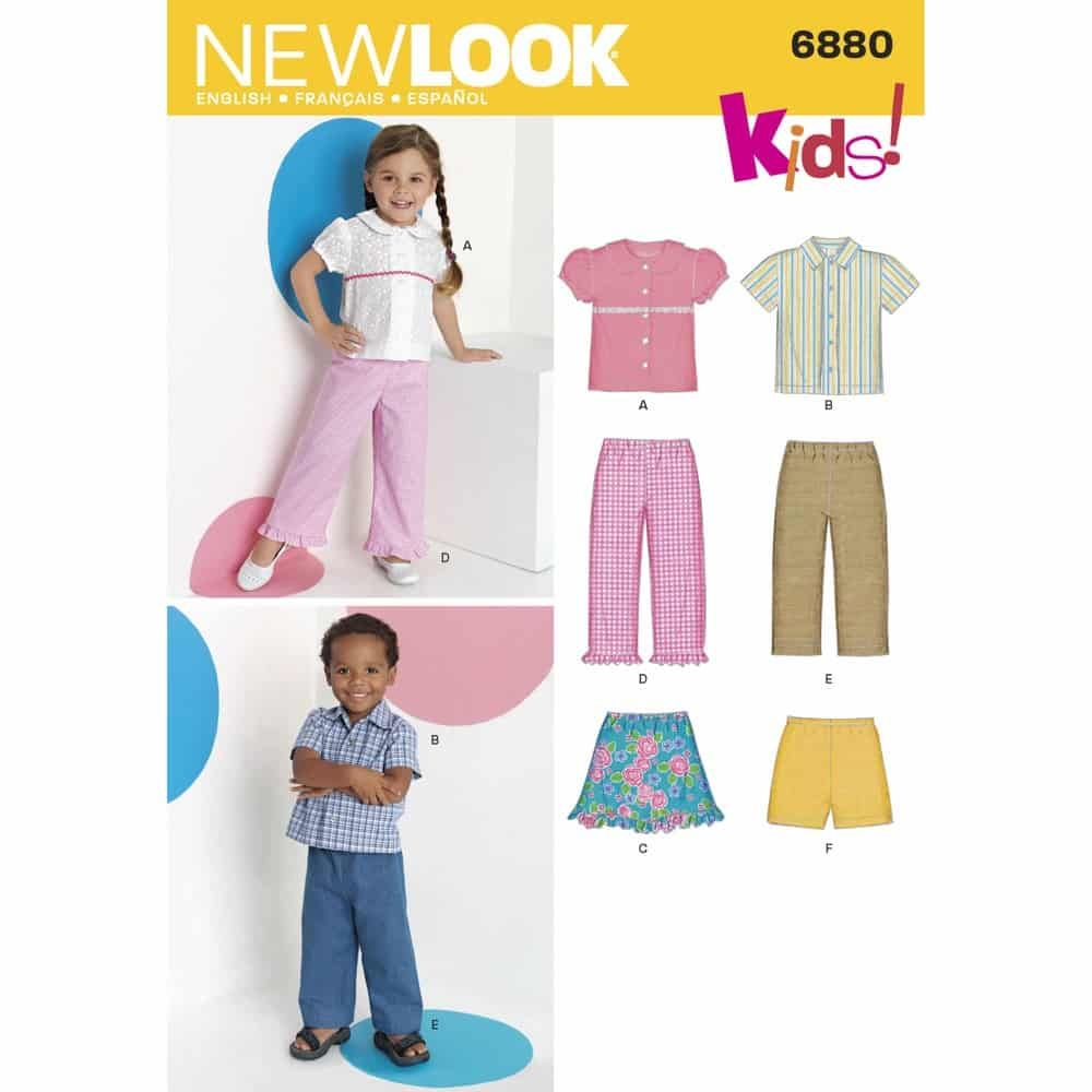 New Look Sewing Pattern 6880 Toddler Separates