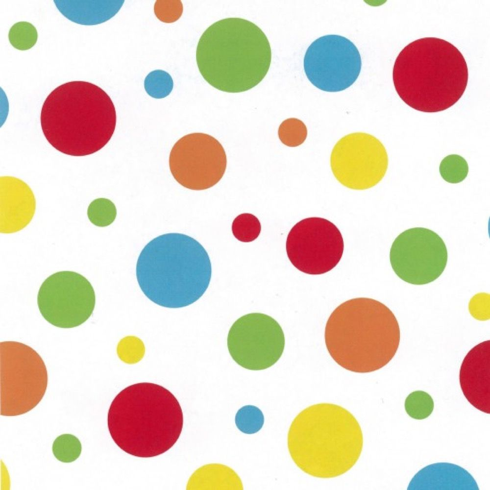 Nutex - Extra Wide Fabric - Rainbow Spots On White