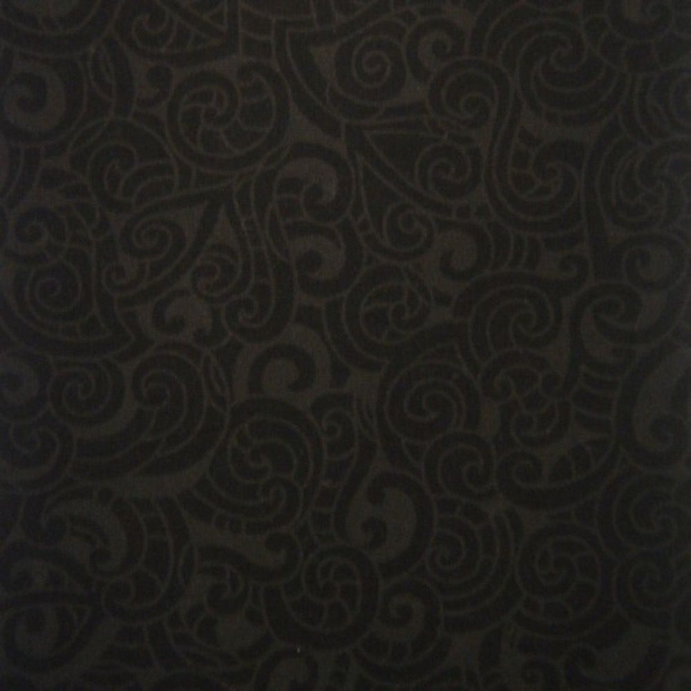 Nutex - Extra Wide Fabric - Paisley Charcoal